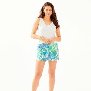 Lilly Pulitzer Whisper Blue Boom Colette Skort NEW